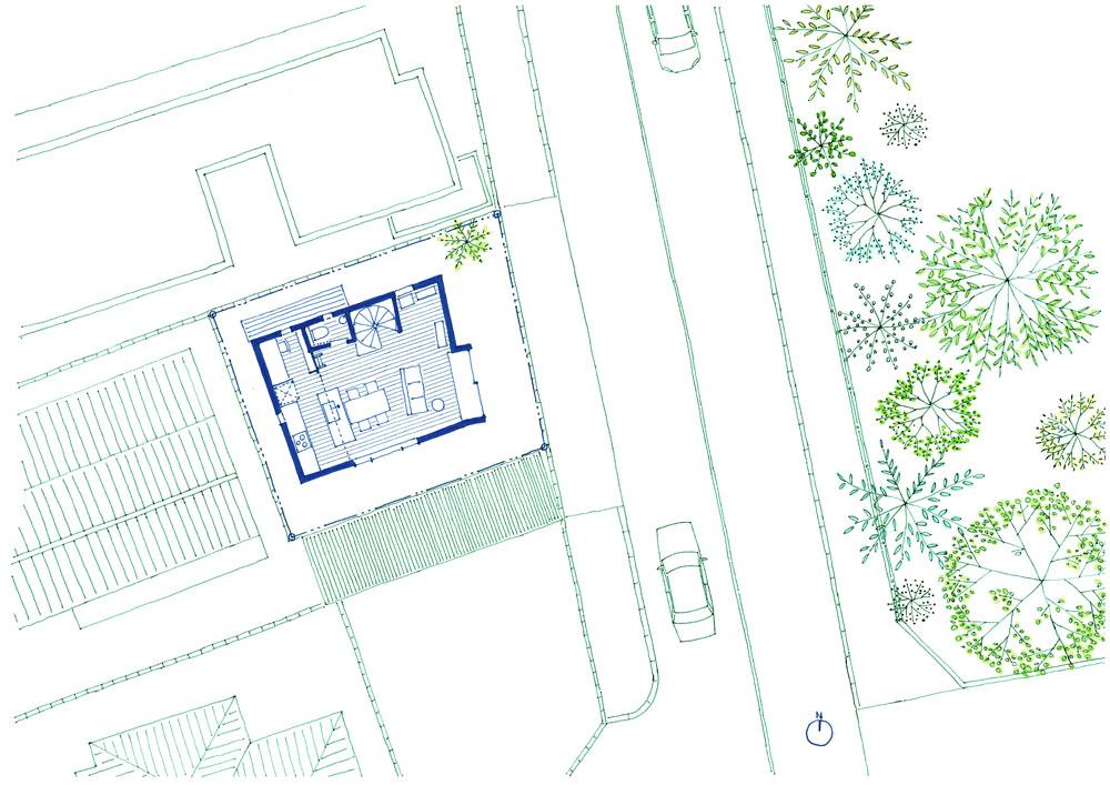2階リビングの家を設計
